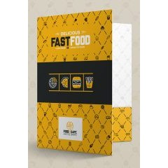 Fast Food Corporate Presentation Folder (Front Open View)
