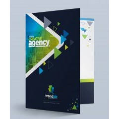 TrendBiz Modern Presentation Folder (Front Open View)