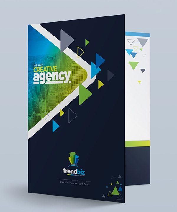 folder design trendbiz modern presentation folders