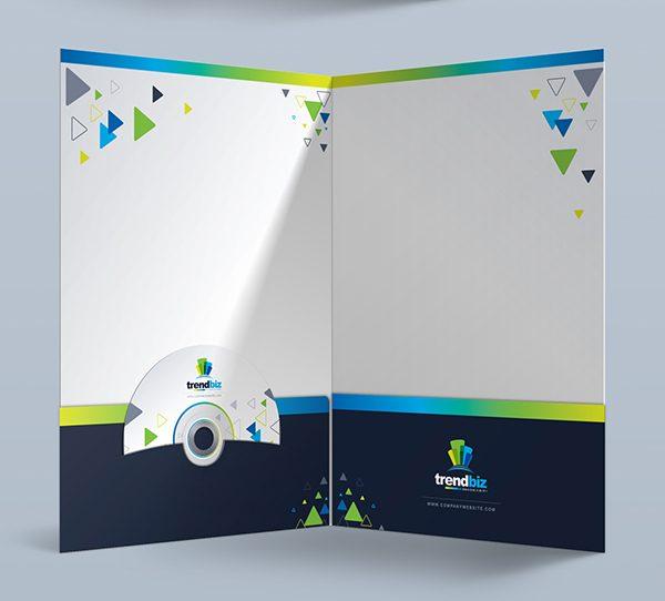 TrendBiz Modern Presentation Folder (Inside View)