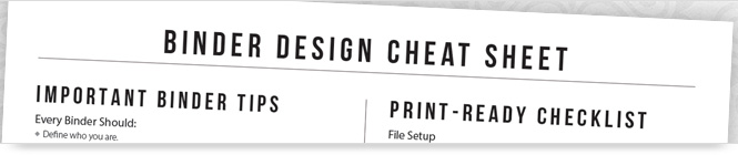 Binder Design Cheat Sheet
