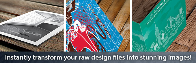 Instantly transform your raw design files into stunning images!