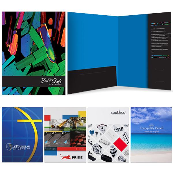Vertical & Left Pocket Presentation Folder | Custom Printed