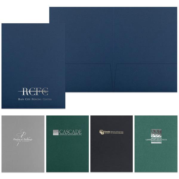 Foil Stamped Presentation Folder w/ Pocket | Custom Printed