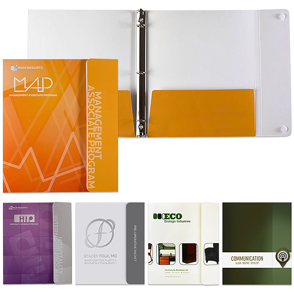 Portfolio Flap 3 Ring Binder | Custom Printed