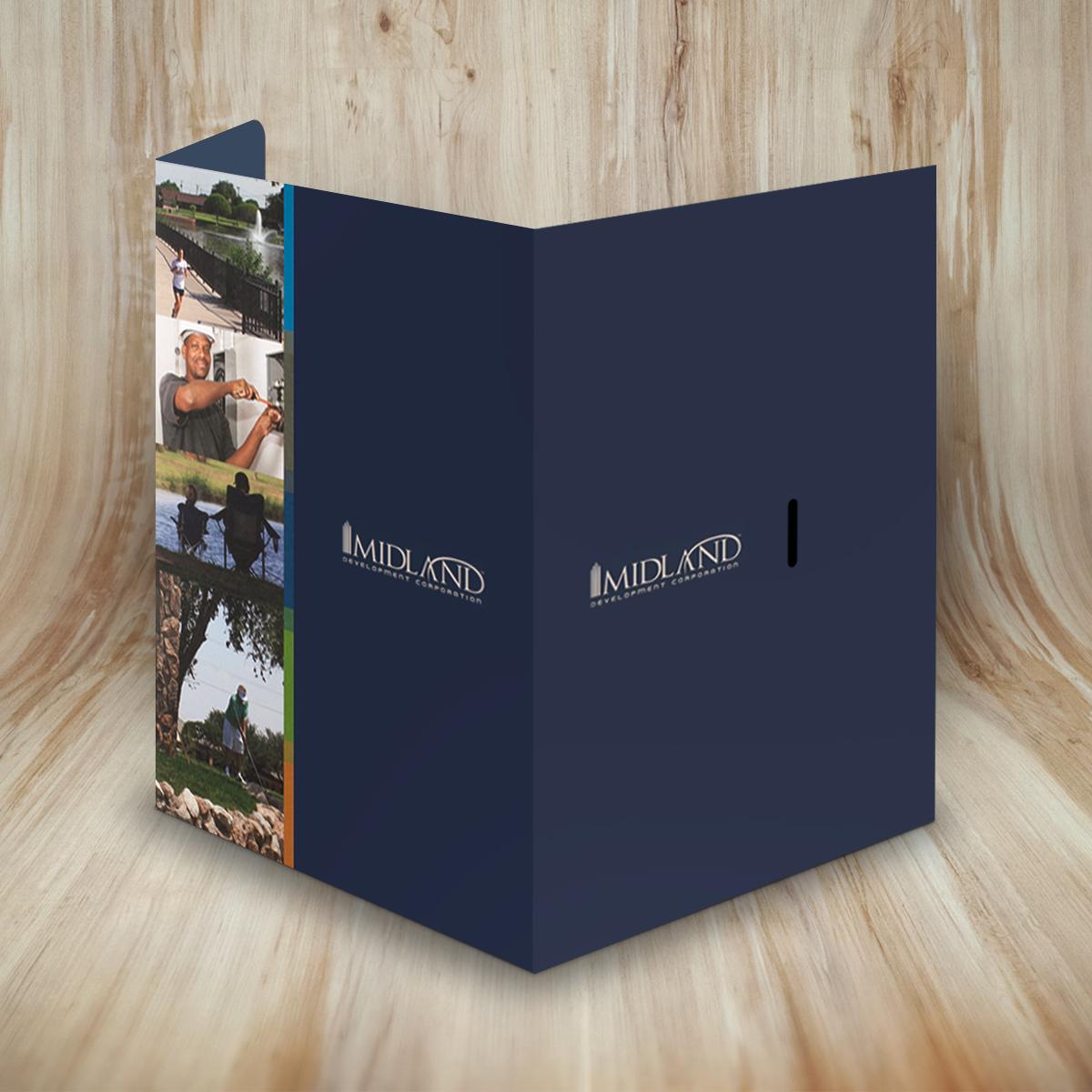 Tabbed Presentation Folder w/ Flap | Custom Printed