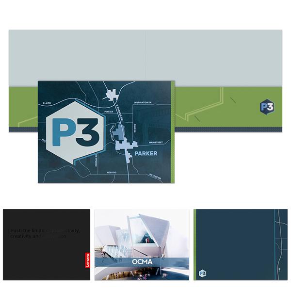 Two-Pocket Landscape Presentation Folder | Custom Printed