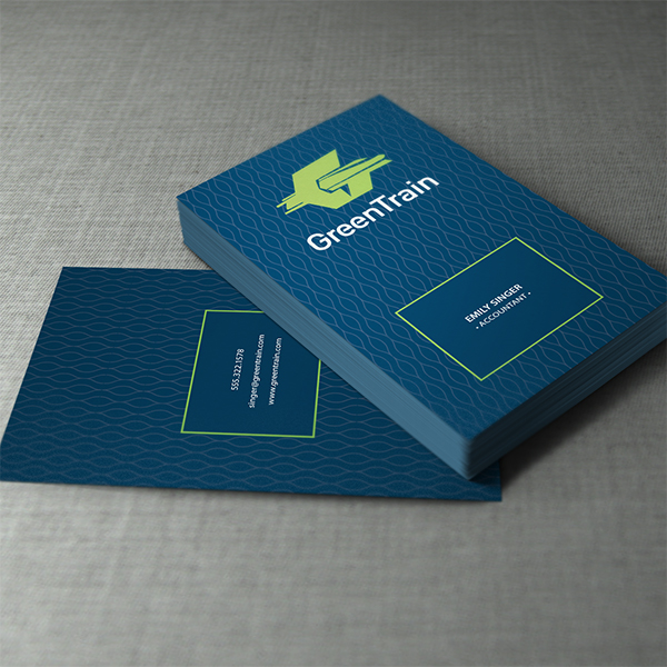 Business Card Design - Green Train