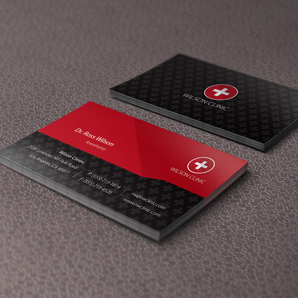 Business card design services creating designs youll love business card design medical colourmoves