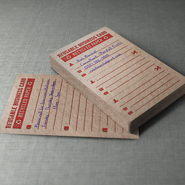 Business Card Design - Reusable