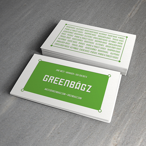Business card design services creating designs youll love business card design green bagz colourmoves