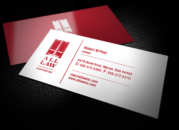 Business Card Design - All Law Firm Legal Services