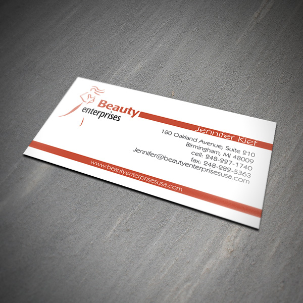 Business card design services creating designs youll love business card design beauty enterprises reheart Images
