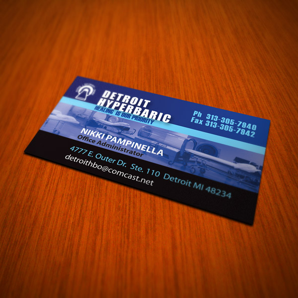 Business Card Design - Detroit Hyperbaric