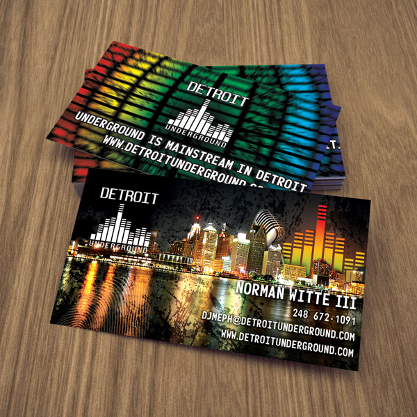Business card design services creating designs youll love business card design detroit underground colourmoves