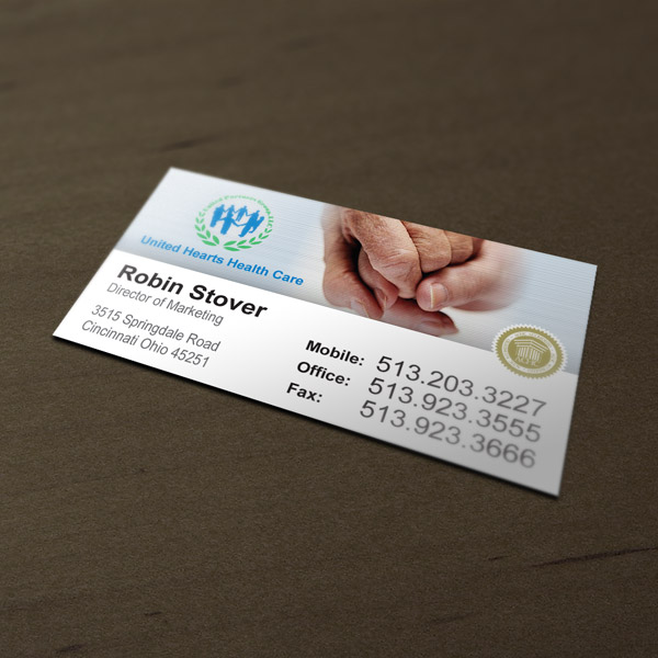 Business card design services creating designs youll love business card design united health care colourmoves
