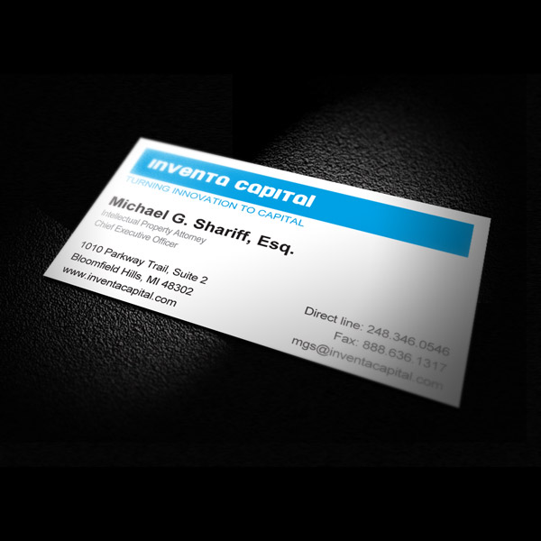 Business Card Design - Inventa Capital