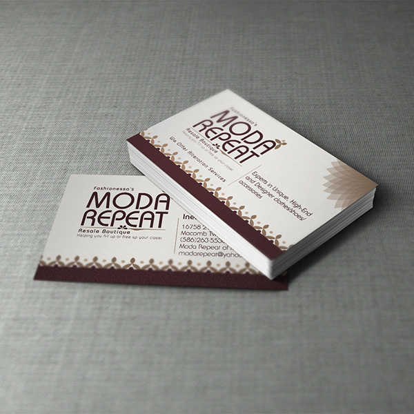 Business Card Design - Moda Retreat