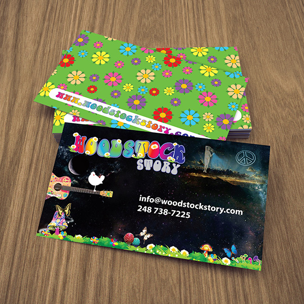 Business Card Design - Woodstock Story