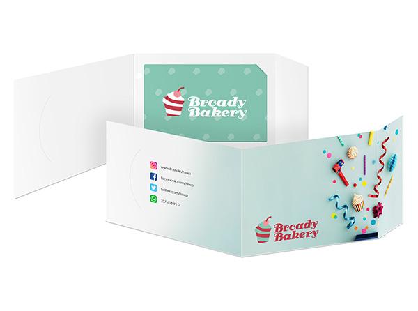 Custom Gift Card Holders, Sleeves & Folders | Printed from 17¢