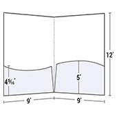 2 Wavy Pockets Square Corner Presentation Folder