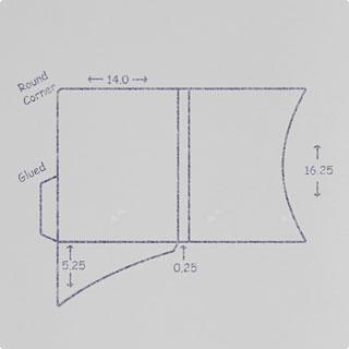 Sketch of a Die Cut Presentation Folder