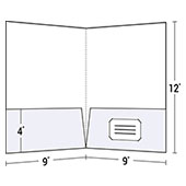 4-Color Process Letter Size Two Pocket Folder