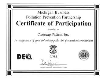 MBP3 Certificate of Participation