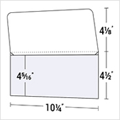 "4 1/2"" x 10 1/4"" Wallet-Style Document Folder"