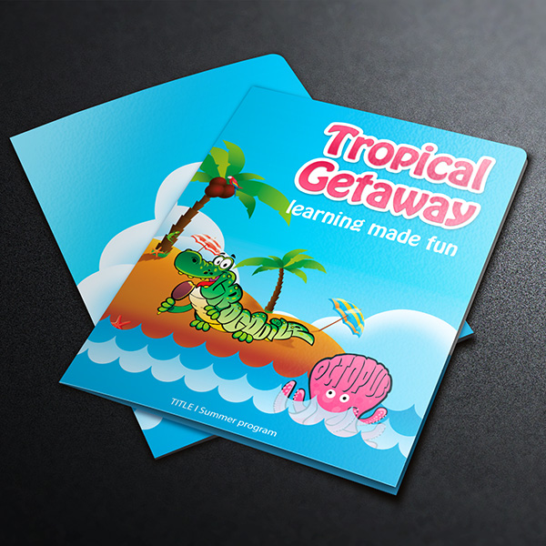 Folder Design - Tropical Getaway