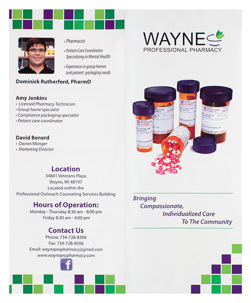 Wayne Professional Pharmacy (Front and Back Flat View)