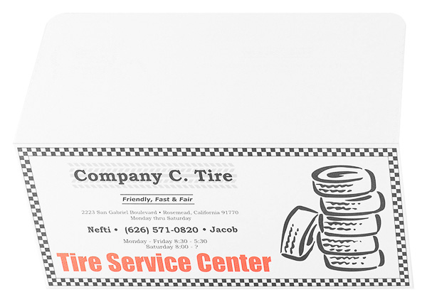 Company C. Tire (Back and Front Open View)