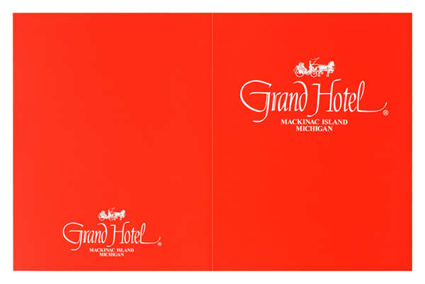Grand Hotel Mackinac Island (Front and Back Flat View)