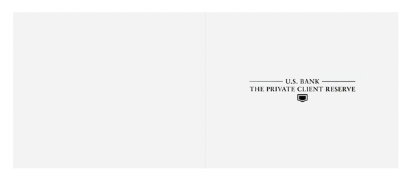 The Private Client Reserve of U.S. Bank (Front and Back Flat View)