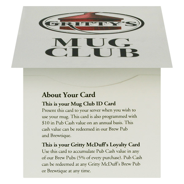 Gritty McDuff's Mug Club (Front Open View)