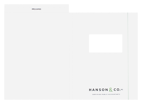 Hanson & Co., PC (Front and Back Flat View)