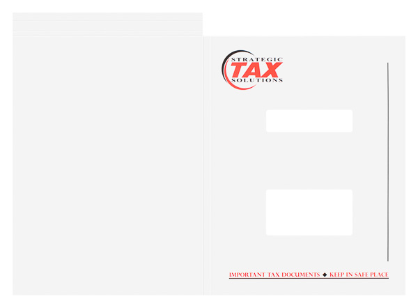 Strategic Tax Solutions (Front and Back Flat View)