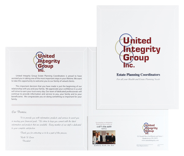 United Integrity Group (Stack of Two Front and Inside View)