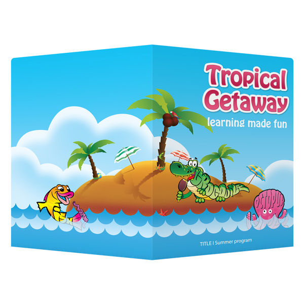 Anne Arundel County Public Schools Tropical Getaway (Back and Front Open View)