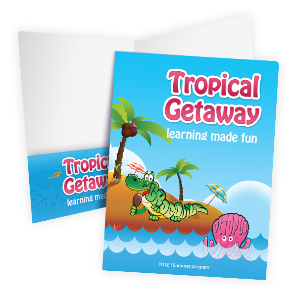 Anne Arundel County Public Schools Tropical Getaway (Stack of Two Front and Inside View)