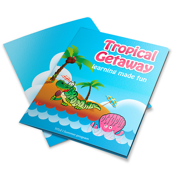 Anne Arundel County Public Schools Tropical Getaway (Stack of Two Front and Back View)
