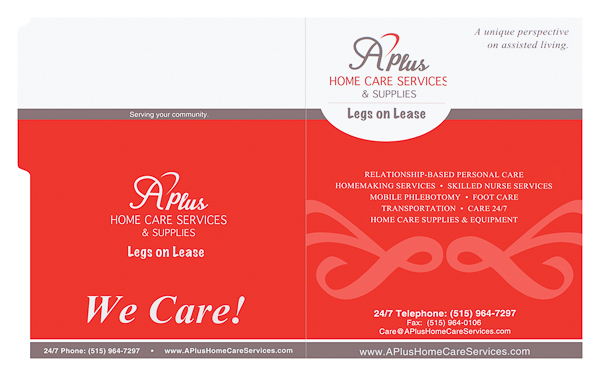 A Plus Home Care (Front and Back Flat View)