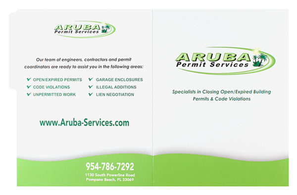 Aruba Permit Services (Front and Back Flat View)