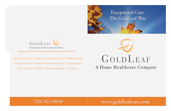 GoldLeaf Home Care (Front and Back Flat View)