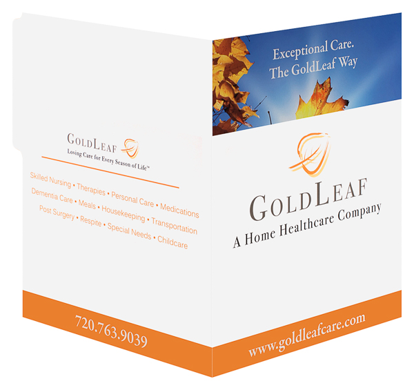 GoldLeaf Home Care (Front and Back Open View)