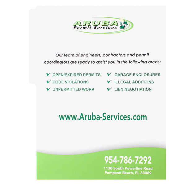 Aruba Permit Services (Back View)