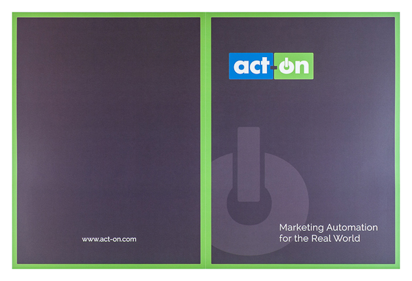 Act-On Software (Front and Back Flat View)