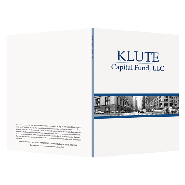 Klute Capital Fund, LLC (Front and Back Open View)