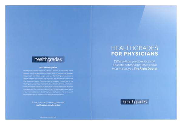 Healthgrades (Front and Back Flat View)