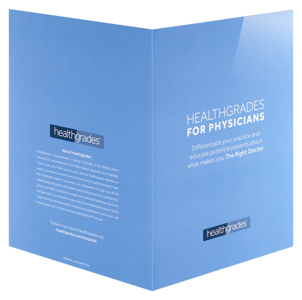 Healthgrades (Front and Back Open View)